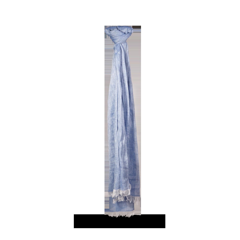 Altea Blue Linen Cotton Scarf Feature