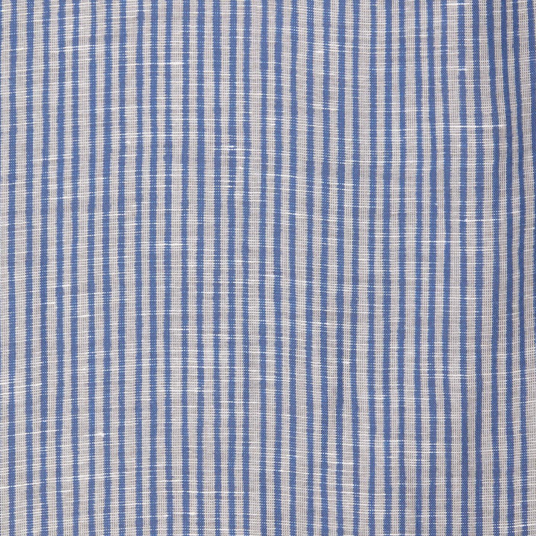 Altea Blue Printed Modal Linen Silk Scarf Fabric