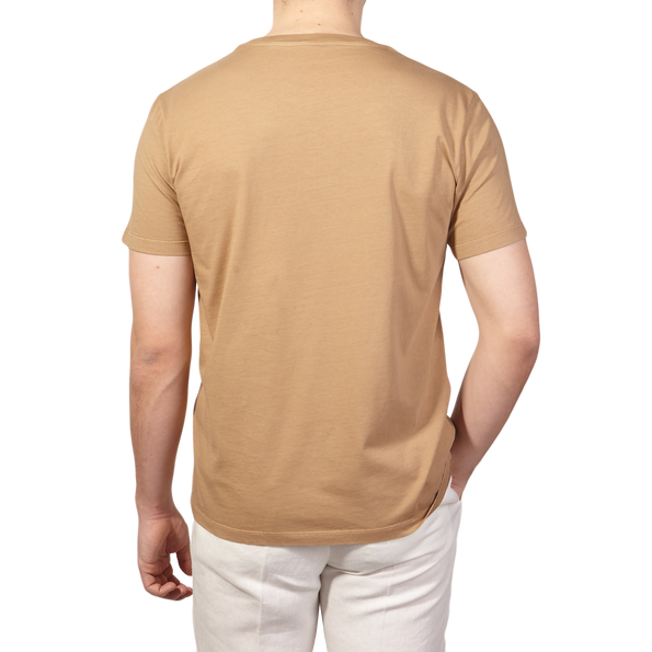 Altea Light Brown Washed Cotton T-Shirt Back