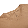 Altea Light Brown Washed Cotton T-Shirt Collar