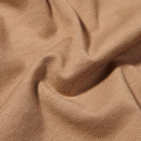 Altea Light Brown Washed Cotton T-Shirt Fabric