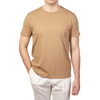 Altea Light Brown Washed Cotton T-Shirt Front