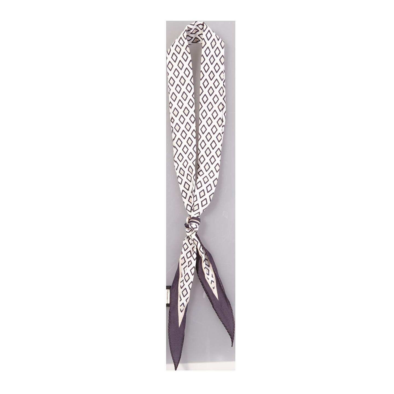 Altea Navy Diamond Print Cotton Silk Bandana Feature