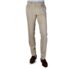 Berwich Beige Loro Piana Wool Fresco Pleated Trousers Front