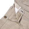 Berwich Beige Loro Piana Wool Fresco Pleated Trousers Zipper