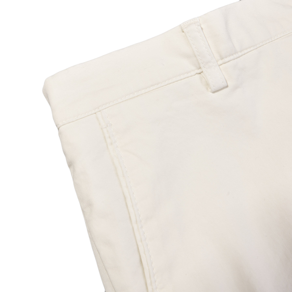Berwich Berwich Off White Bermuda Cotton Shorts Edge