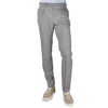 Berwich Light Grey Fresco Wool Pleated Trousers Front
