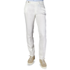 Berwich Off-White Flat Front Linen Trousers Front