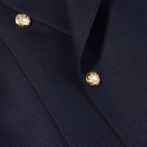 De Petrillio Navy Wool Mohair Double Breasted Club Blazer ClosedDe Petrillio Navy Wool Mohair Double Breasted Club Blazer Closed