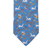 Drake's Royal Blue Unicorn Print Silk Tie Tip