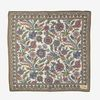 Drake's White Cotton Modal Vintage Floral Pocket Square Feature