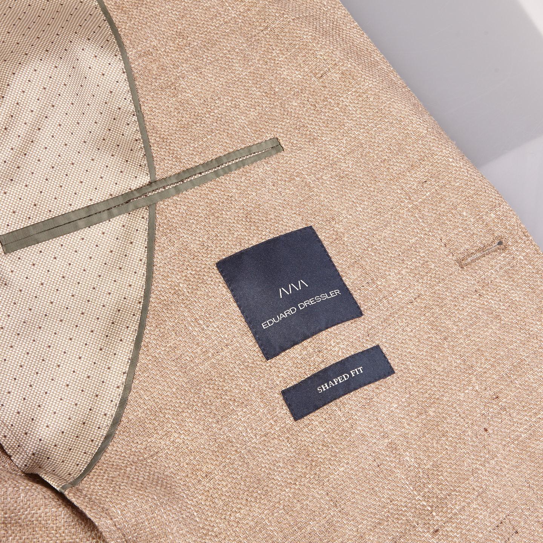 Eduard Dressler Beige Wool Silk Linen Sendrik Blazer Inside
