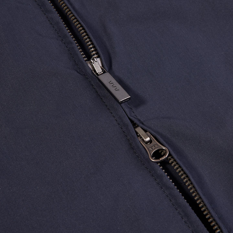 Eduard Dressler Navy Cotton Anthony Blouson Zipper