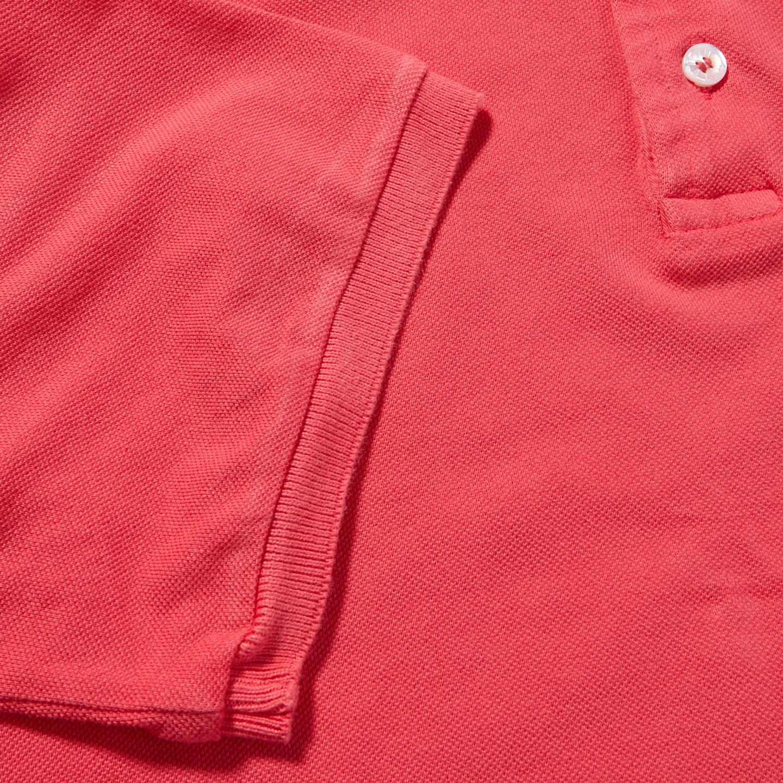 Fedeli Coral Cotton Pique Polo Cuff