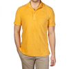 Fedeli Yellow Terry Cloth Polo Shirt Front