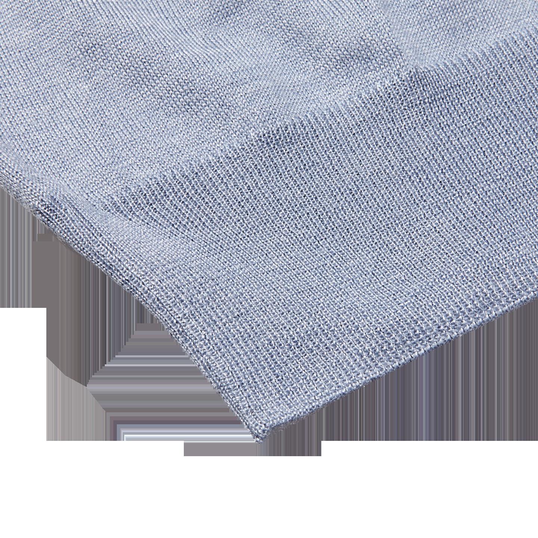 Gran Sasso Light Blue Wool Silk Crewneck Sweater Edge