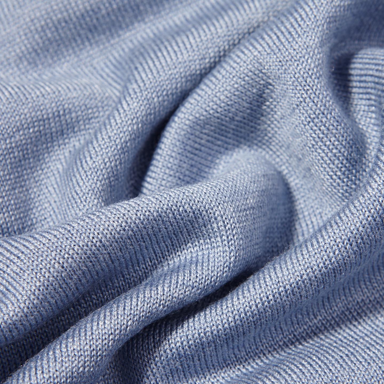 Gran Sasso Light Blue Wool Silk Crewneck Sweater Fabric