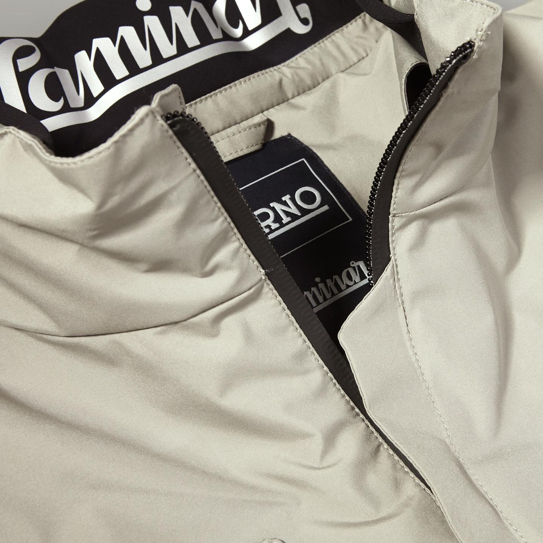 Herno Beige Laminar Gore-tex Jacket Collar