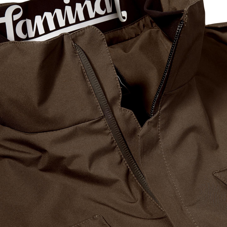 Herno Herno Brown Laminar Gore-tex Jacket Front Collar