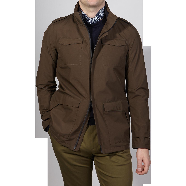 Herno Herno Brown Laminar Gore-tex Jacket Front Front