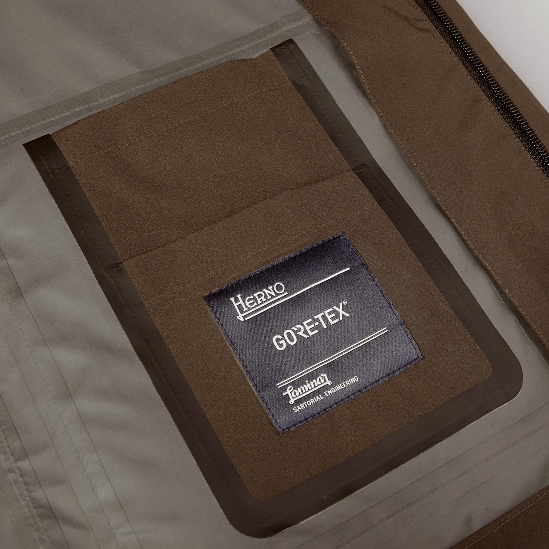 Herno Herno Brown Laminar Gore-tex Jacket Front Inside