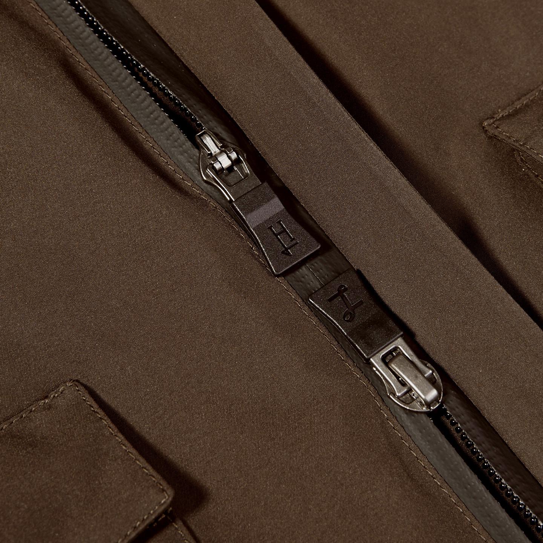 Herno Herno Brown Laminar Gore-tex Jacket Front Zipper