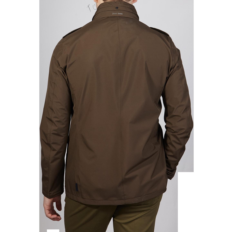 Herno Herno Brown Laminar Gore-tex Jacket Front Back