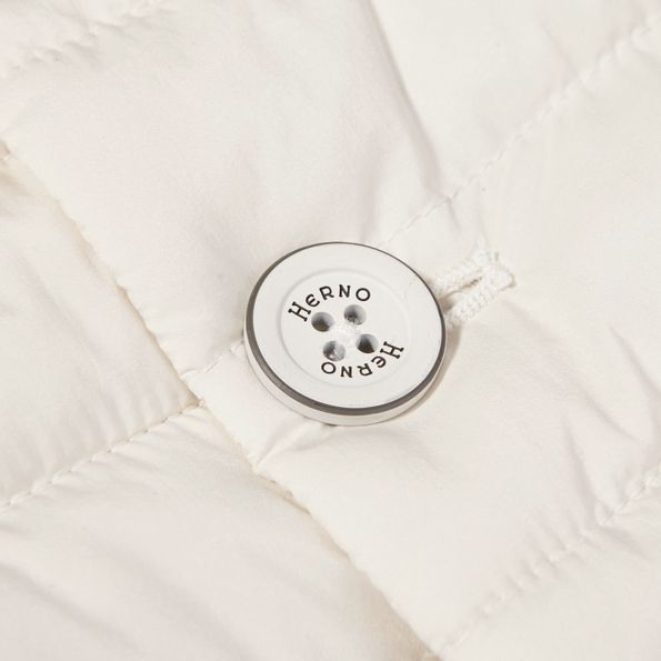 Herno Off White Technical Down Gilet Button