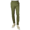 PT01 Green Pleated Cotton Stretch Gentlemen Fit Trousers Front