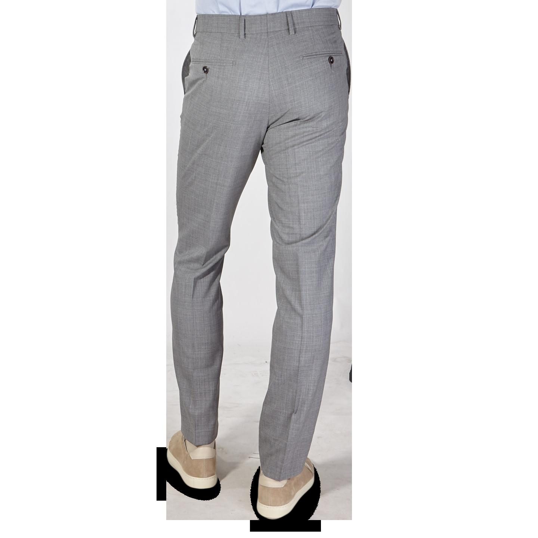San Siro Grey Super 120s Wool Bogota Trousers Back