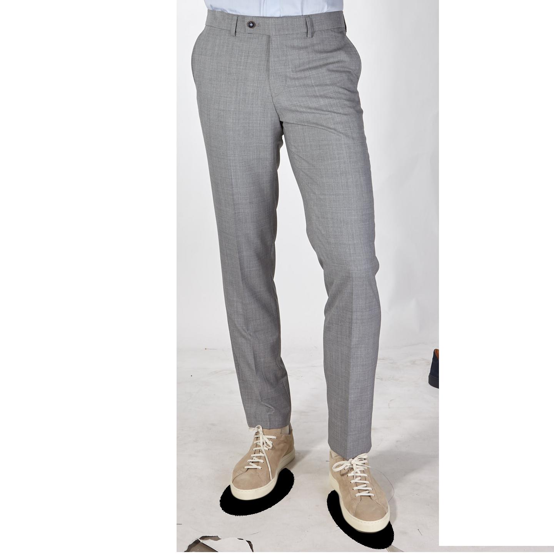 San Siro Grey Super 120s Wool Bogota Trousers Front