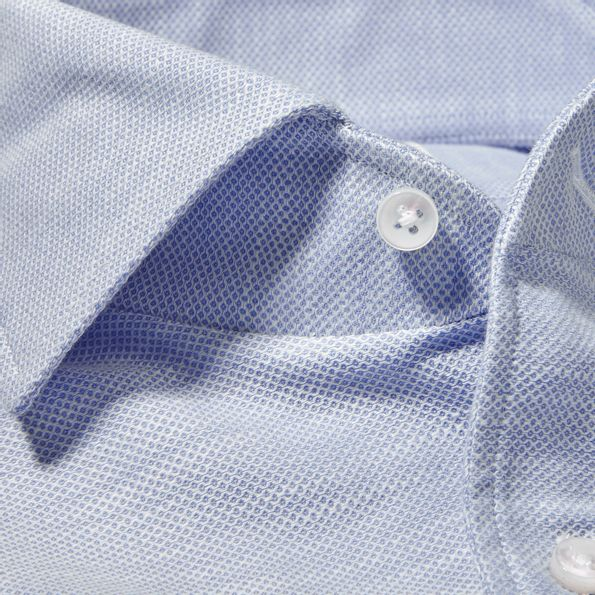 Stenströms Blue Cut Away Casual Slimline Shirt Collar
