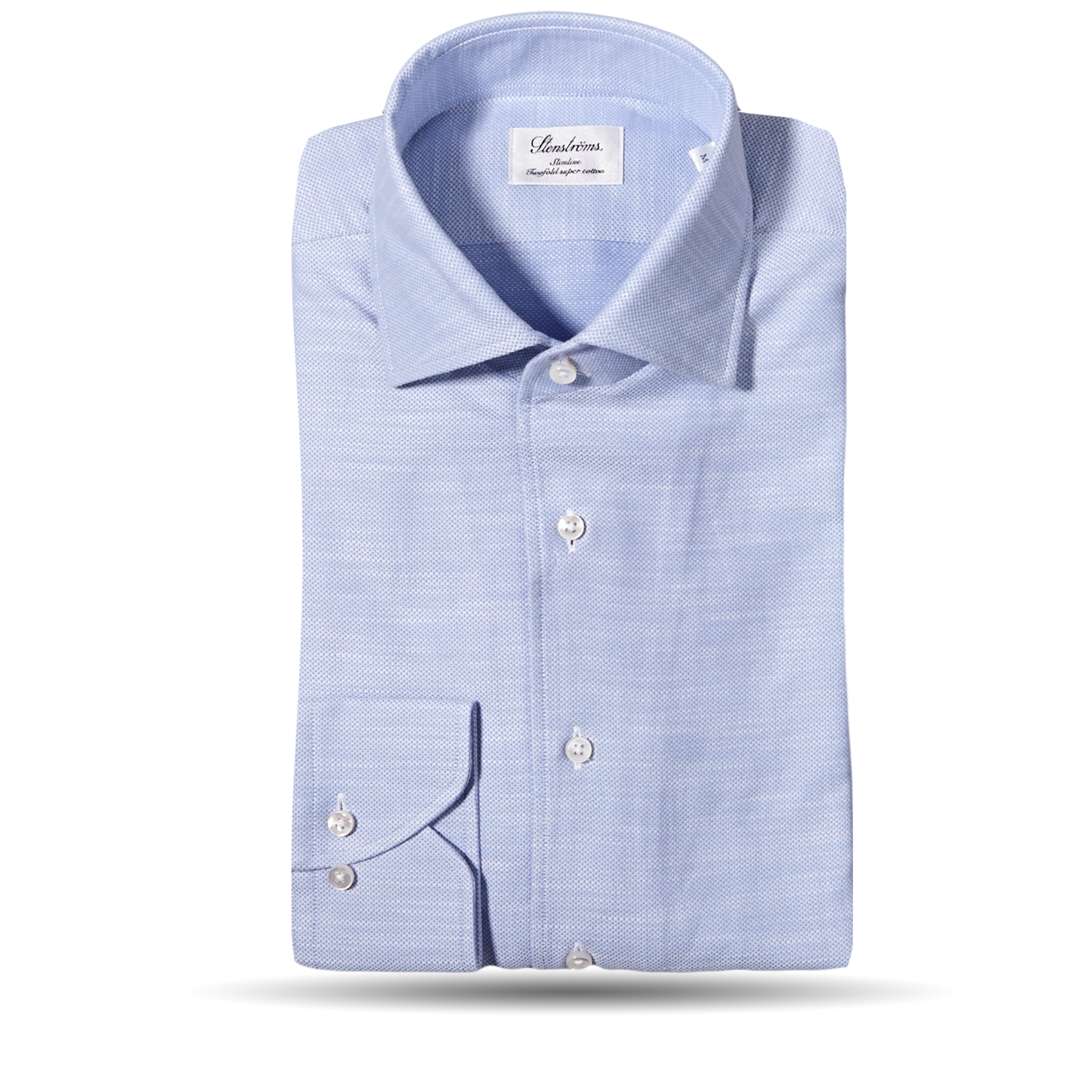 Stenströms Blue Cut Away Casual Slimline Shirt Feature
