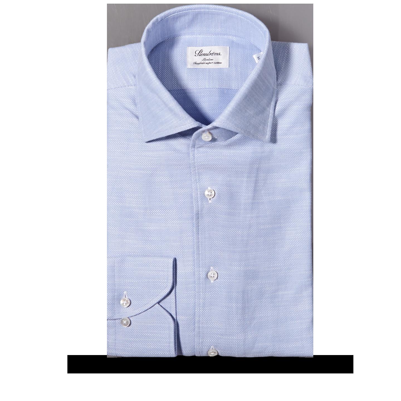 Stenströms Blue Cut Away Casual Slimline Shirt Feature