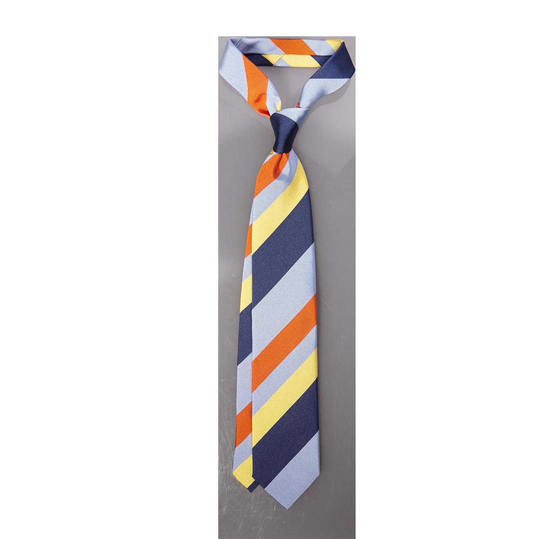 Stenströms Navy Striped Silk Cotton Tie Feature