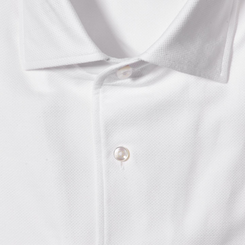 Stenströms White Cut Away Casual Slimline Shirt Fabric