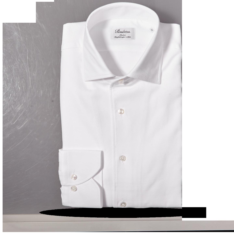 Stenströms White Cut Away Casual Slimline Shirt Feature
