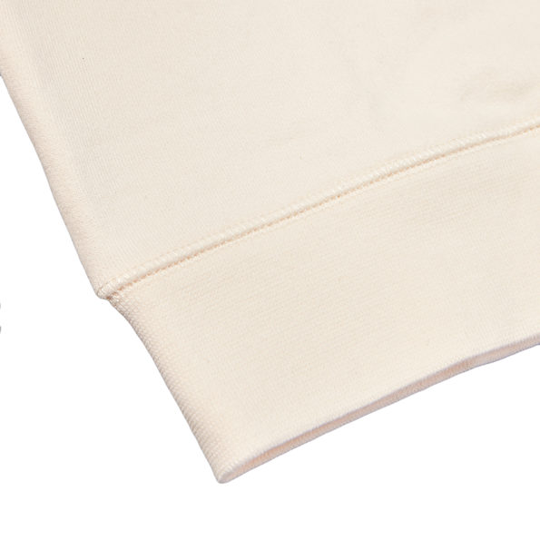 Sunspel Archive White Cotton Loopback Sweatshirt Edge