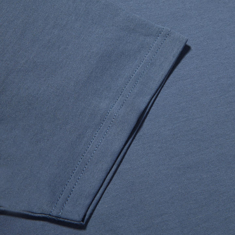 Sunspel Blue Slate Crew Neck T-Shirt Cuff