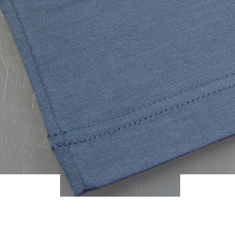 Sunspel Blue Slate Crew Neck T-Shirt Edge
