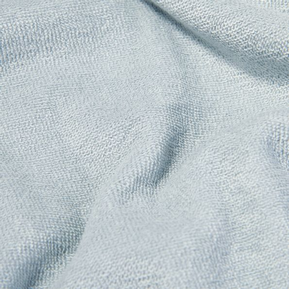 Sunspel Light Indigo Organic Cotton Toweling Polo Fabric