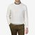 Sunspel Off White Rib Crew Neck Cotton Sweater Front
