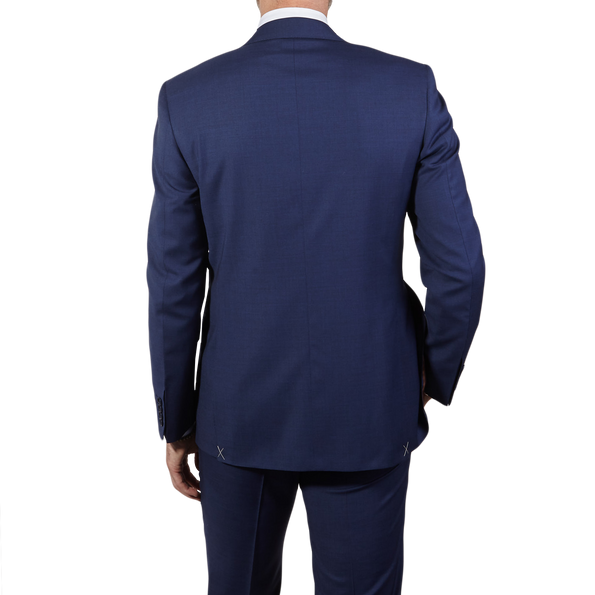 Canali Blue Wool Suit Back