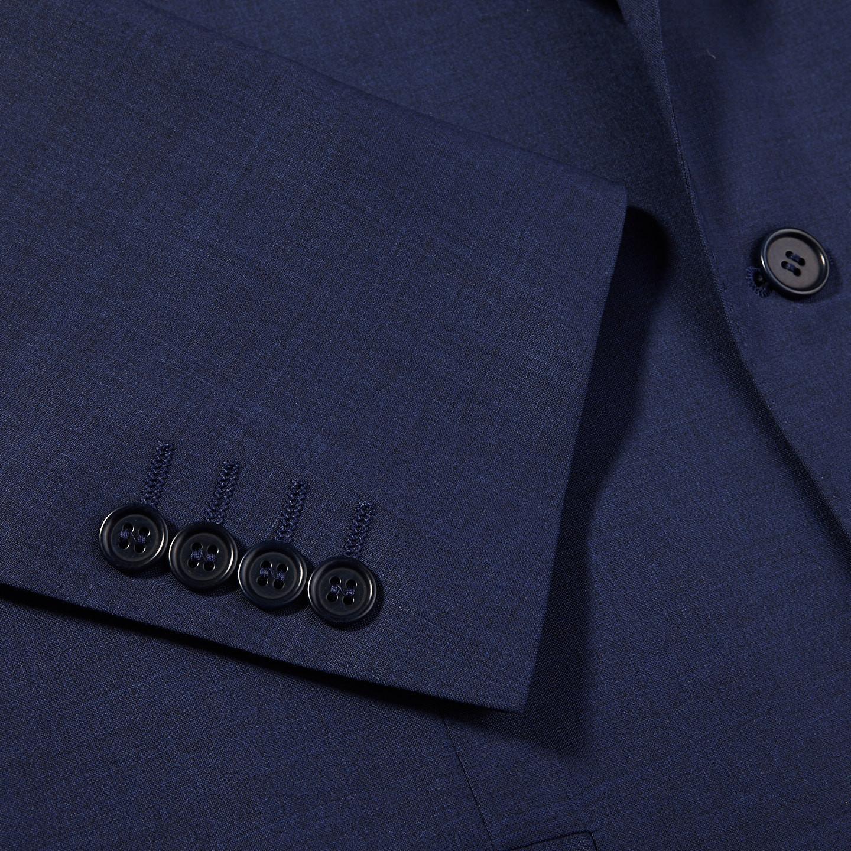 Canali Blue Wool Suit Cuff