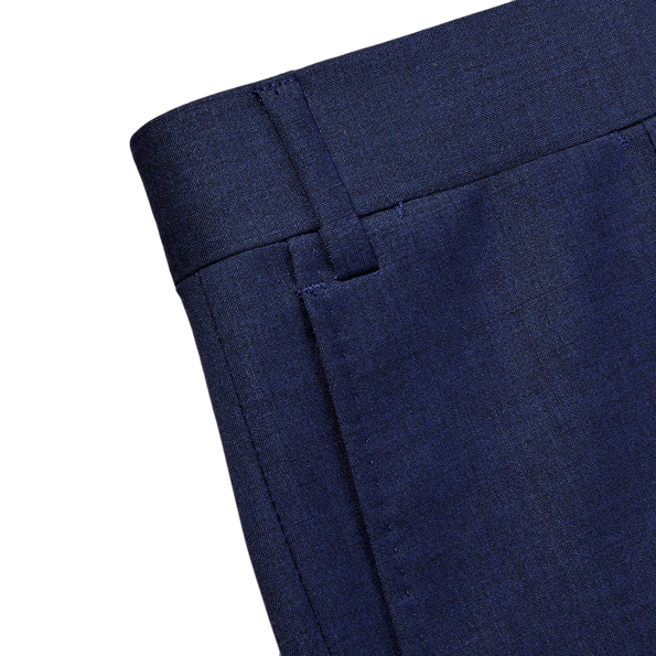 Canali Blue Wool Suit Edge