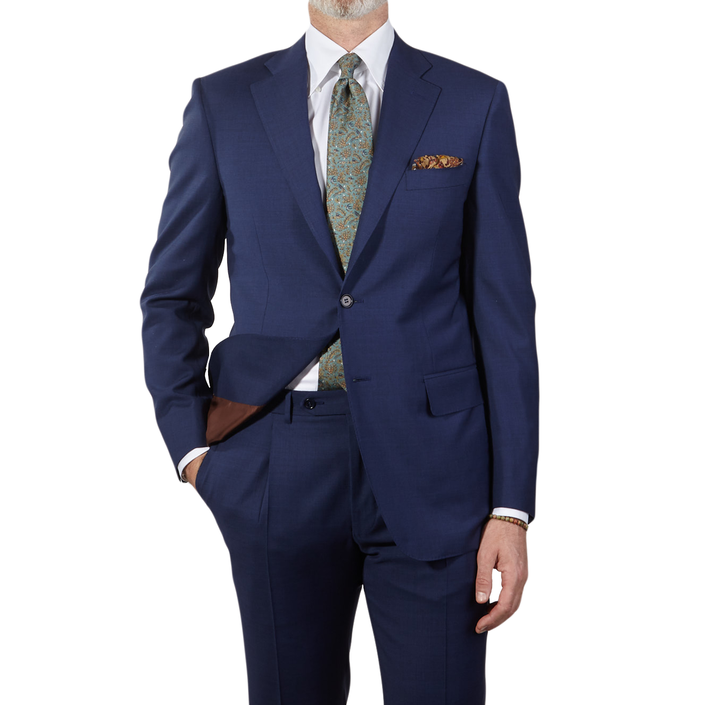 Canali Blue Wool Suit Front