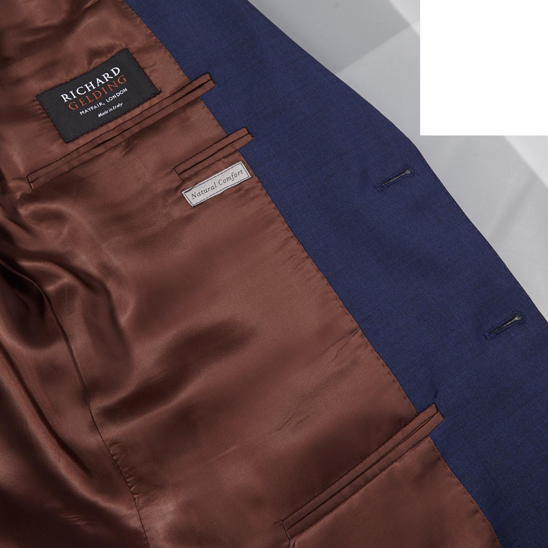 Canali Blue Wool Suit Inside
