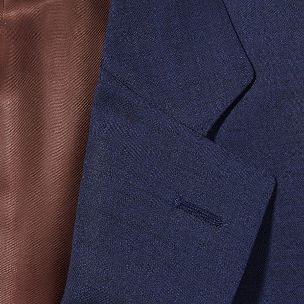 Canali Blue Wool Suit Collar
