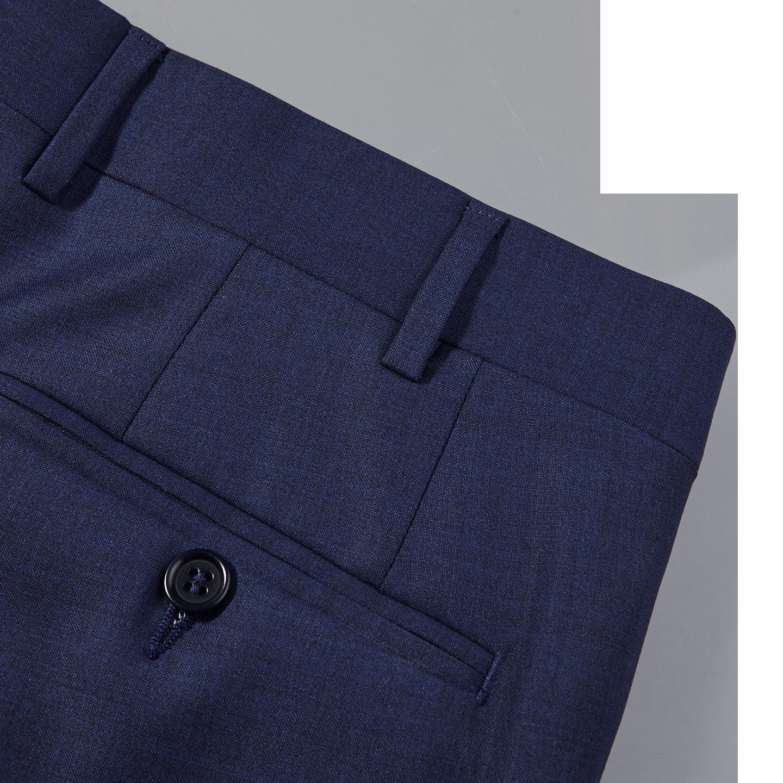 Canali Blue Wool Suit Pocket