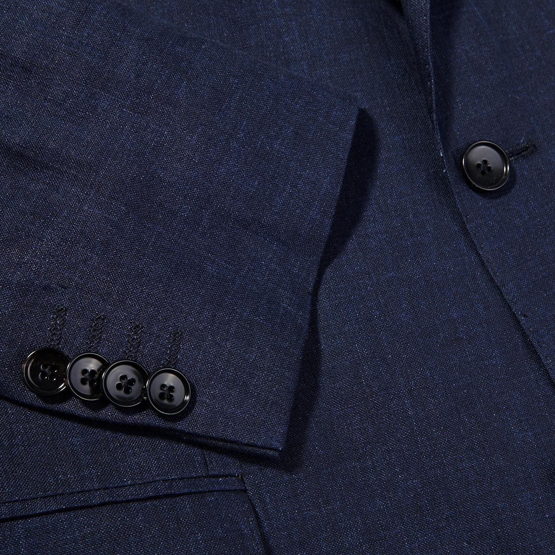 Eduard Dressler Navy Pure Linen Summer Suit Cuff